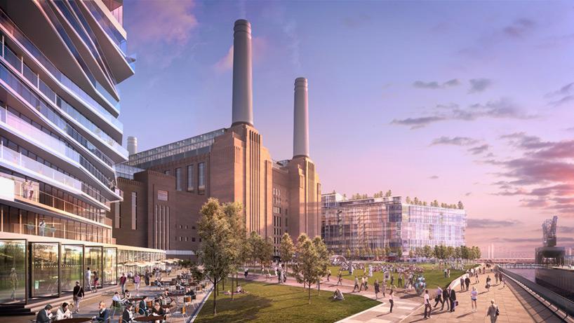 frank gehry norman foster + partners battersea power station designboom