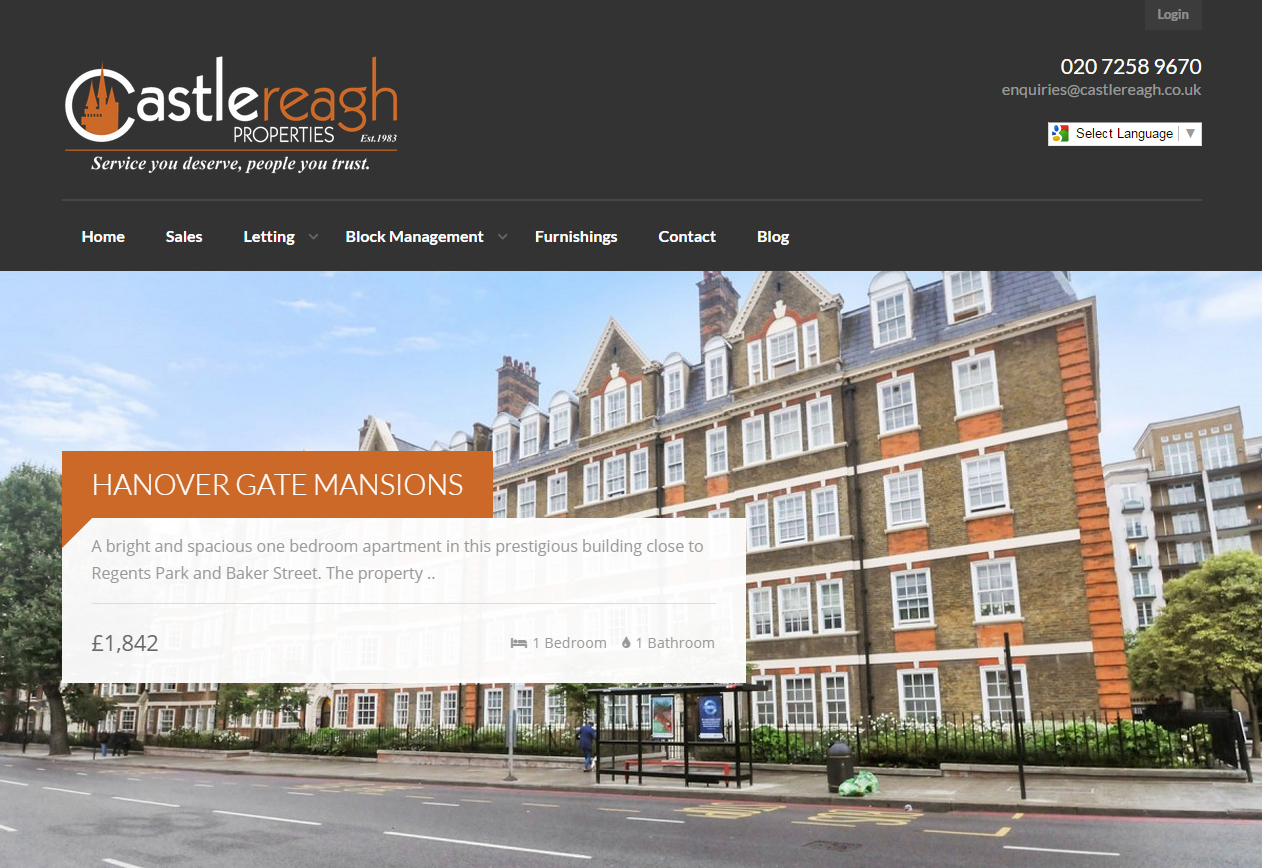 Castlereagh website design by silvertoad