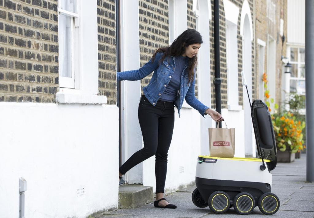 Just Eats New Robotic Delivery System Silvertoad