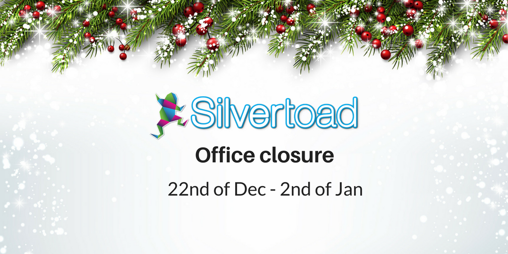 Silvertoad Christmas Closure Notice