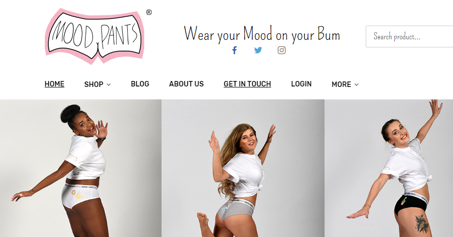 Wear Your Mood On Your Bum With New 'Cheeky' Start Up Mood Pants!