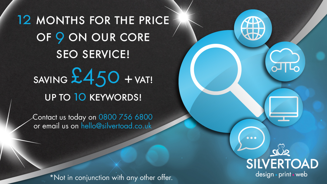 12 Months For The Price Of 9 On Our Core SEO Service!